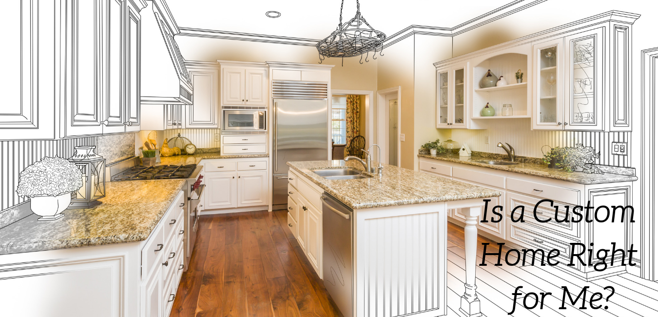 Beautiful Custom Home Kitchen Design Drawing and Brushed In Photo Combination.