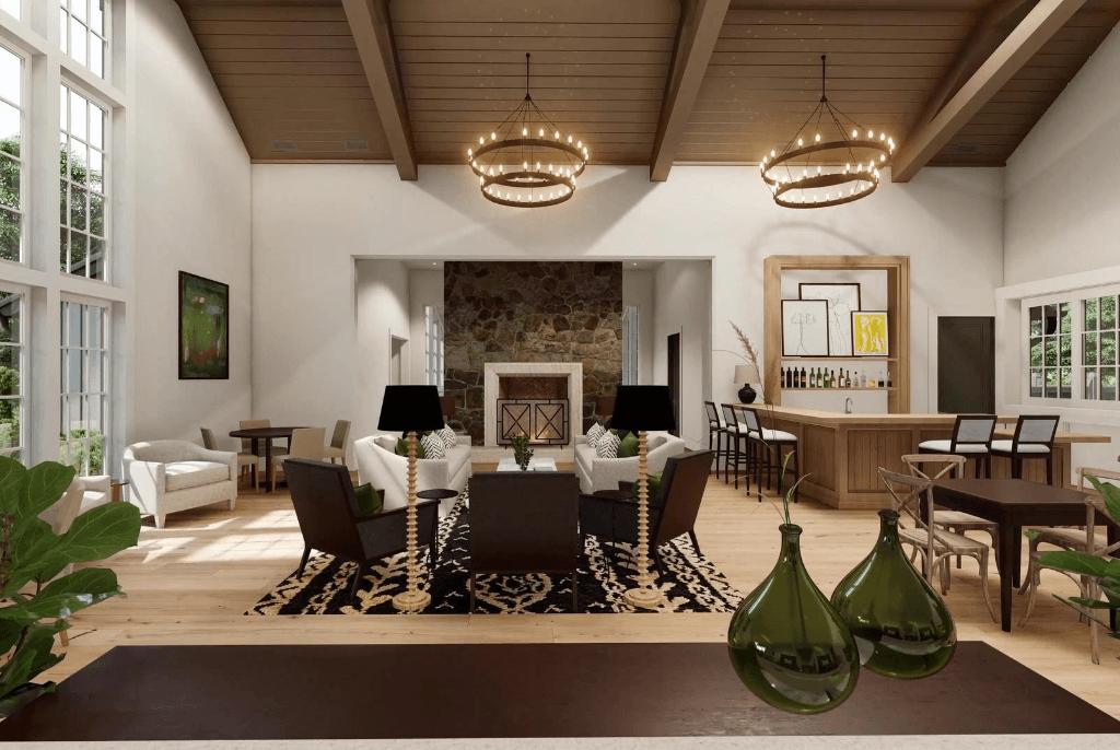 club55 signature homes club house interior