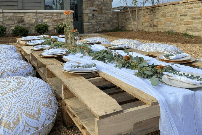 boho picnic table ideas